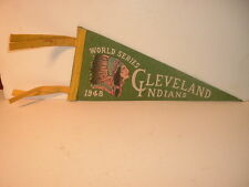 1948 Cleveland Indians World Series Mini Pennant / Green