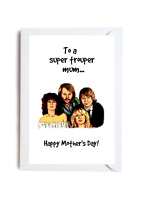 To a Super Trouper Mum Happy Mother's Day ABBA Music Novelty Funny Card A6