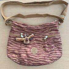 Kipling Brown Zebra Shoulder Bag Anna Monkey NWT