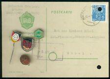Old East German/GDR Lot 5 Item´s RARE VdgB Malchin/Röbel i. Meckl. + Card etc...