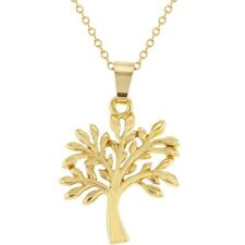 18k Gold Plated Eternal Tree of Life Pendant Necklace 19""