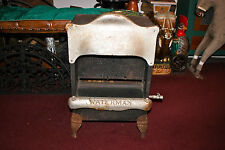 Antique Waterman Gas Stove Heater-Metal-Country Decor Americana-Small Size