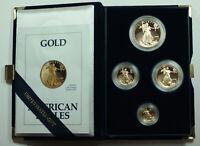 1992 American Eagle Gold Proof 4 Coin Set AGE in Box w/ COA