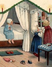 Weihnachten: Kinder warten auf den Weihnachtsmann, gel.1935, Pauli Ebner sign,