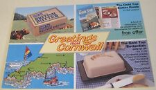Advertising Tourism Greetings from Cornwall Gold Top - unposted