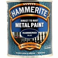 HAMMERITE DIRECT TO RUST METAL PAINT HAMMERED BLUE 750ML 5092938