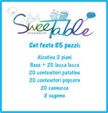 set festa compleanno party set sweet table comunione battesimo nascita 85 pezzi