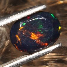 6X8  MM NATURAL ETHIOPIAN FIRE BLACK OPAL FACETED CUT CALIBRATED GEMSTONE H10269