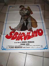 MANIFESTO SBIRULINO 1982 Sandra Mondaini, Flavio Mogherini AGUS