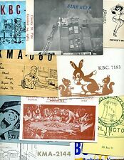VINTAGE LOT OF 11 QSL CB CITIZEN BAND RADIO CARDS FROM BURLINGTON  VERMONT