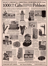 1917 B AD  POHLSON GIFT SHOPS POEMS BUBBLES UNCLE SAM BANK DAISY DARNER