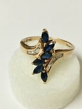 CRP 14k Yellow Gold Ring With Diamonds And Sapphire
