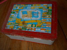 Vintage Rare Flag Metal Lunchbox United Nation very faded & rusty no thermos