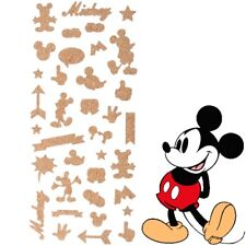 DISNEY MICKEY MOUSE STICKERS 36Pc 3D Cork Stick On Bedroom Wall Door Laptop