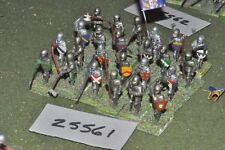 25 mm/inglés-desmonta una Caballeros Medievales 24 figuras-INF (25561)