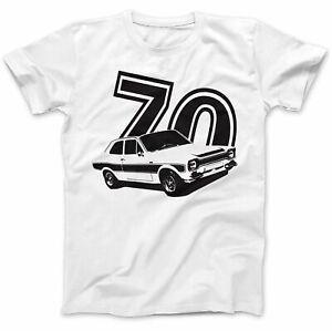 Mk1 Escort Mexico T-Shirt Tee Car Racer Cool Dad 100% retro gift white S- 3xl