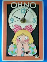 """Mary Engelbreit 'OH NO' Ceramic Easel Back Clock 6"""" 1994  ME INK - Works"""