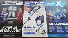 2016 Finnish Veikkaus magazine Patrik Laine on cover 3 different issues