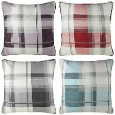 Cotton Blend Checked Decorative Cushions