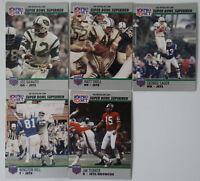 1990 Pro Set Super Bowl Supermen New York Jets Team Set 5 Football Cards