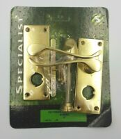 Brass Victorian Style Privacy Door Handle with Latch Bathroom Toilet