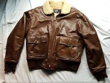 Vintage POLO Ralph Lauren Shearling Leather Bomber Flight Aviator Jacket large