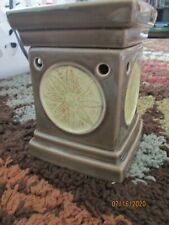 Scentsy Lotus Flower Green Full Size Deluxe Wax Warmer Retired P014 EUC