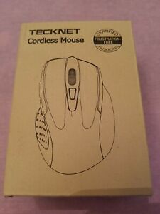 NEW TECKNET LIGHTWEIGHT CORDLESS MOUSE COMPUTER ACCESSORY COLOR BLUE V-3