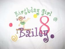 Personalized GYMNAST GYMNASTICS Name or Birthday with Age Number T Shirt