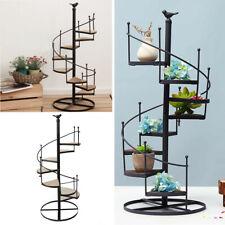 More details for metal spiral plant stand 8 tier flower pots ladder shelf staircase display rack