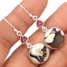 Peanut Wood 925 Sterling Silver Earrings Jewelry EE37143