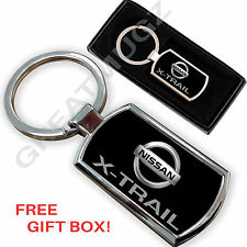 NISSAN  X-TRAIL CAR KEYRING KEY CHAIN RING FOB CHROME METAL NEW