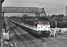 PHOTO  CLASS  47  INTER CITY LIVERY AT COLTHROP FROM SIGNAL DOX DOWN DIRECTION