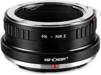 K&F Concept Lens Adapter for Pentax K PK SLR Lens to Nikon Z Mount Z6 Z7 Cameras