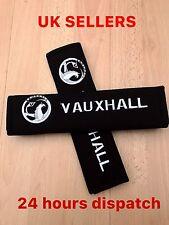 2 Seat Belt Shoulder Cover Pads VAUXHALL tigra corsa astra vectra zafira White
