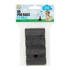 Good Boy Poo Bag Poop Refill Rolls Dog Waste Disposal 80pcs 4x20 Bags X2 Bundle