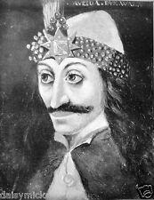 Vlad Tepes Vlad el Empalador Transilvania Drácula 7x5 Pulgadas impresión Vampiro Retrato