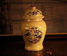 Vintage Sadler Iridescent Lustre Lidded Pot Urn Tea Caddie Birds Floral Design