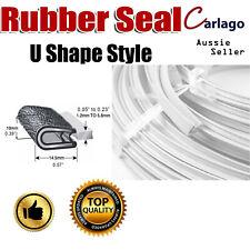 Pinchweld Seal Trim Metal Cilp Rubber Strip Car Edge Protector Weatherstrip 4.5M