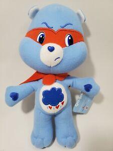 "Care Bears Grumpy Bear Super Hero 10"" Plush with Tags 2009 Nanco Red Cape Mask"