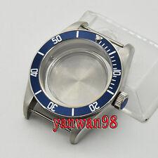 41mm Sapphire Glass Blue rotating Bezel Watch Case Fit ETA 2824 2836 Movement