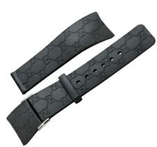 Authentic i-Gucci Digital 114-2 25mm Rubber Watch Band Replacement Wrist Strap