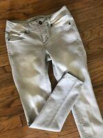 "Maurices Gray Wash Stretch Denim Legging Jegging Skinny Slim Jeans S, 4/6 x 30"""