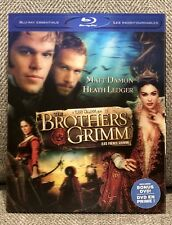 BROTHERS GRIMM blu-ray + DVD w/VERY RARE LENTICULAR SLIPCOVER GREAT CONDITION!