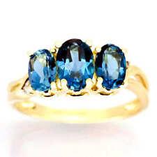 Topaz Wedding Three-Stone Fine Rings