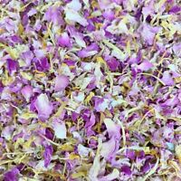 Natural Biodegradable Wedding Confetti Pink Rose Yellow Mix Petals Dried Flowers