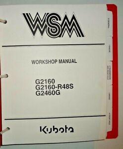 Kubota G2160 G2460G G2160-R48S Tractor Service Repair Workshop Shop Manual OEM