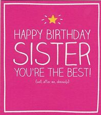 Happy Jackson Card: Happy Birthday Sister You're the best- New In Cello (GF705B)