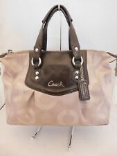 Coach Ashley Signature Dotted Op Art Tan/Brown Satchel Handbag F20027