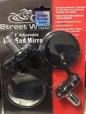 """SCOOTER GY6 50cc 125cc 150cc Street Wise 3"""" Adjustable Bar End Mirrors"""